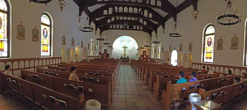 Panorammic view of Immaculate Conception Catholic Church, Old Town, San Diego