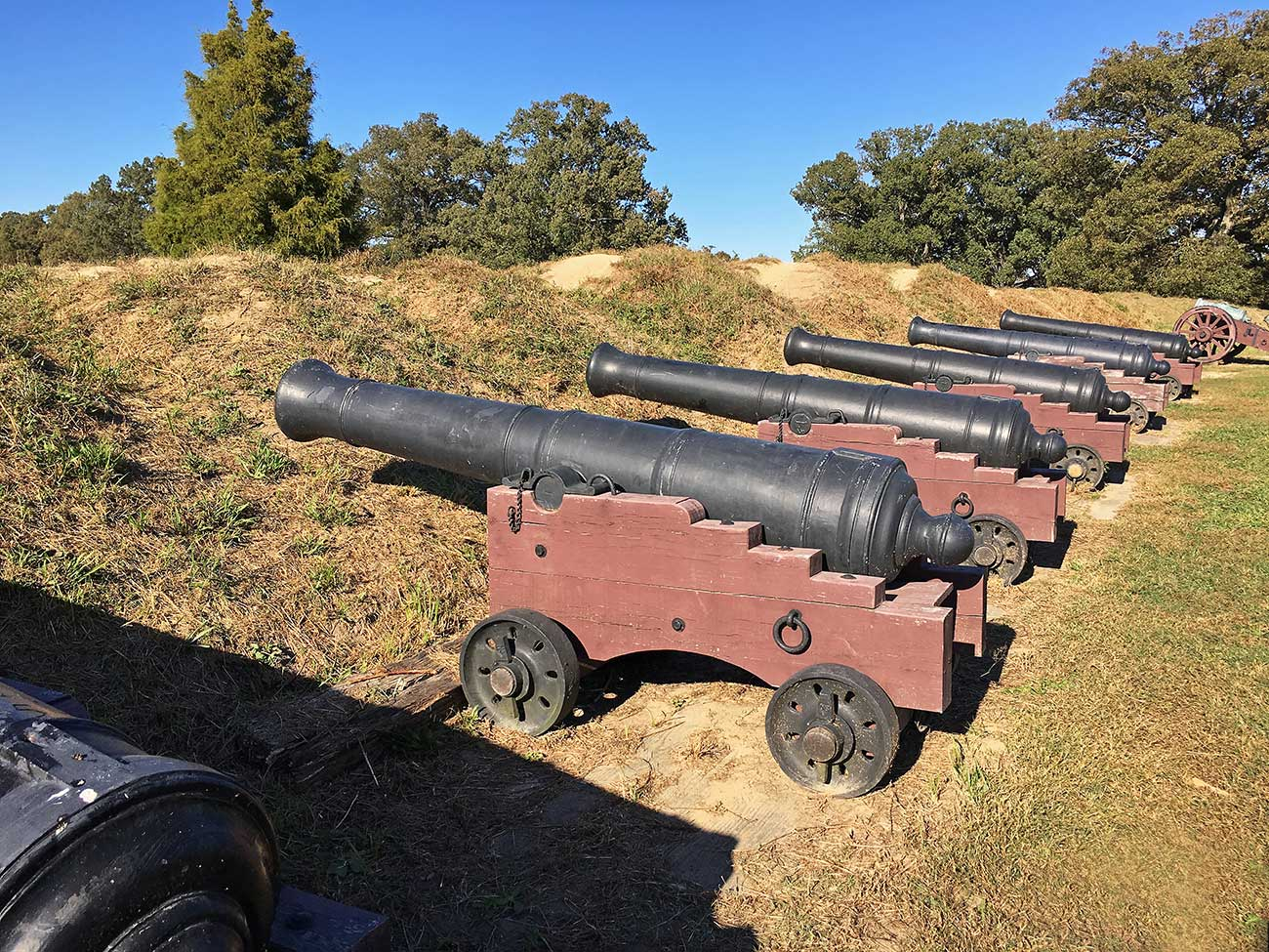 Siege-Cannon at Yorktown Battlefield park in Yorktown, Virginia